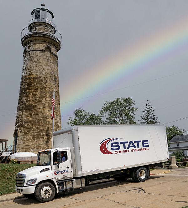 Truck with new logo lighthouse